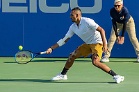 Washington, DC - August 4, 2019:  Nick Kyrgios (AUS) reaches for the ball during the Citi Open ATP Singles final at William H.G. FitzGerald Tennis Center in Washington, DC  August 4, 2019.  (Photo by Elliott Brown/Media Images International)