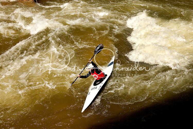 Visitors to the US National Whitewater Center in Charlotte make waves on the rapids. The USNWC is a premier outdoor recreation and environmental education center located in Charlotte, NC.