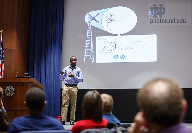 3.18.13 William Kamkwamba presentation at Notre Dame Conference Center