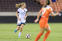 Houston, TX - Saturday July 08, 2017: Allie Long looks to pass the ball during a regular season National Women's Soccer League (NWSL) match between the Houston Dash and the Portland Thorns FC at BBVA Compass Stadium.