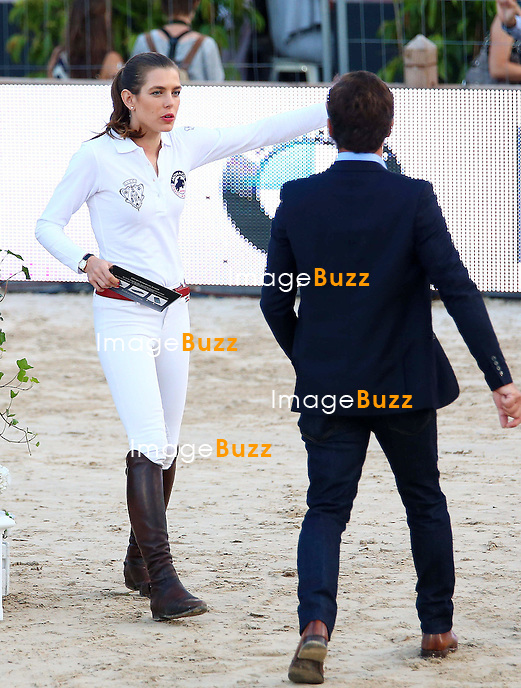 Charlotte Casiraghi of Gucci team attends the Longines Pro-Am Cup Monaco 2014 during the International Monte-Carlo Jumping at Port Hercule on June 27, 2014 in Monaco, Monaco.
