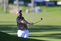 Shane Lowry (IRL) plays his 3rd shot from a bunker on the 17th hole during Friday's Round 2 of the 2018 Turkish Airlines Open hosted by Regnum Carya Golf &amp; Spa Resort, Antalya, Turkey. 2nd November 2018.<br /> Picture: Eoin Clarke | Golffile<br /> <br /> <br /> All photos usage must carry mandatory copyright credit (&copy; Golffile | Eoin Clarke)