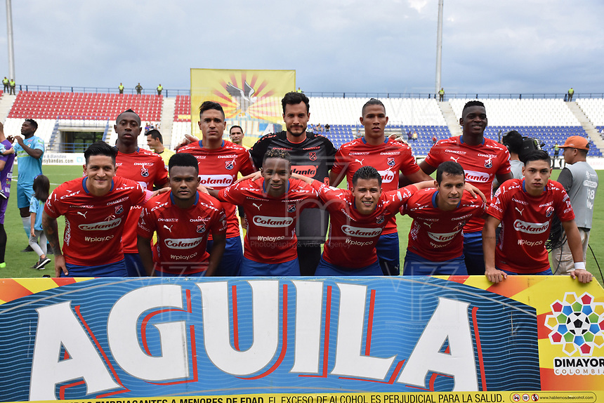 MONTERÍA - COLOMBIA ,20-10-2018: Formación del Independiente Medellín ante Jaguares de Córdoba durante partido por la fecha 16 de la Liga Águila II 2018 jugado en el estadio Municipal Jaraguay de Montería . / Team of Independiente Medellin agaisnt Jaguaresof Cordoba during the match for the date 16 of the Liga Aguila II 2018 played at Municipal Jaraguay Satdium in Monteria City . Photo: VizzorImage /Andrés Felipe López  / Contribuidor.