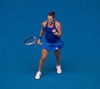 ANASTASIA PAVLYUCHENKOVA (RUS)<br /> Tennis - Australian Open - Grand Slam -  Melbourne Park -  2014 -  Melbourne - Australia  - 18th January 2014. <br /> <br /> &copy; AMN IMAGES, 1A.12B Victoria Road, Bellevue Hill, NSW 2023, Australia<br /> Tel - +61 433 754 488<br /> <br /> mike@tennisphotonet.com<br /> www.amnimages.com<br /> <br /> International Tennis Photo Agency - AMN Images