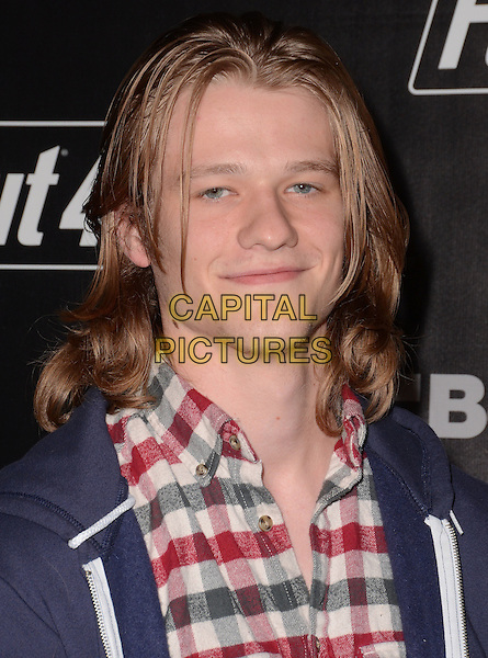 05 November - Los Angeles, Ca - Lucas Till. Arrivals for the official launch party of the video game &quot;Fallout 4&quot; held at a private location in Downtown LA.  <br /> CAP/ADM/BT<br /> &copy;BT/ADM/Capital Pictures