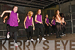 Dancers at the stage in the Square on Friday.
