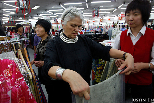 Italian fashion house Max Mara's chief designer Laura Lusuardi shops in Beijing, China, to gather ideas for the latest collection.