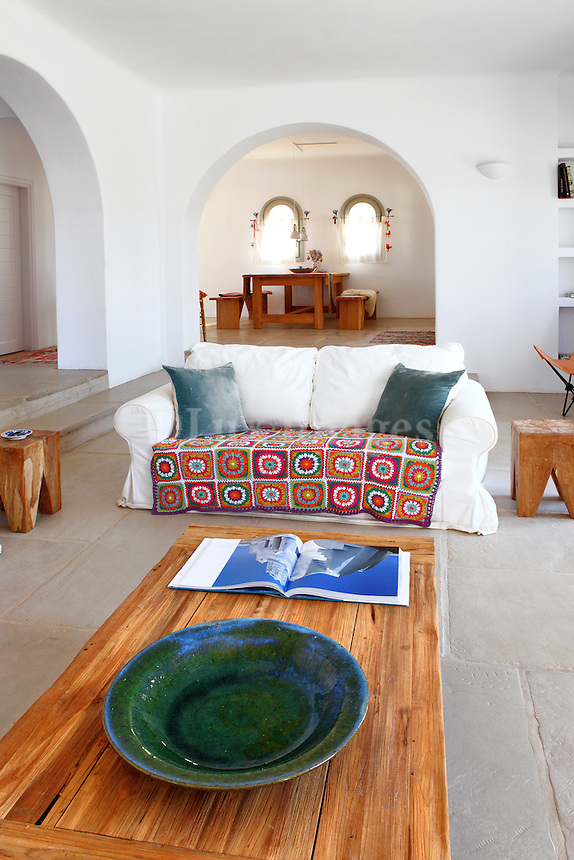 traditional cycladic living room