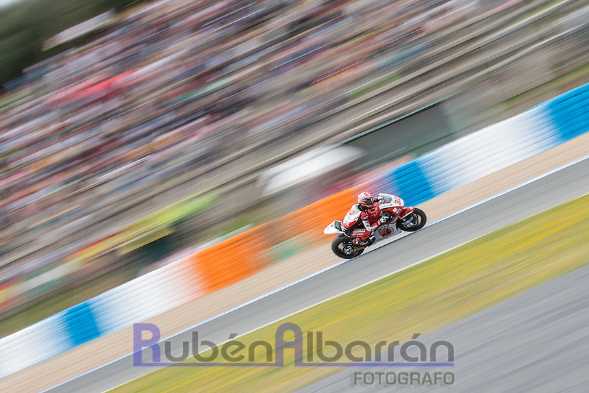 Takaaki Nakagami during the qualifying in Motorcycle Championship GP, in Jerez, Spain. April 23, 2016