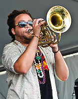 Red Baraat playing at Jazz Fest 2011 in New Orleans, LA on day 3.