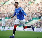 29.12.2019 Celtic v Rangers: Connor Goldson celebrates as Nikola Katic scores