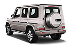 Car pictures of rear three quarter view of 2019 Mercedes Benz G-Class Base 5 Door SUV Angular Rear