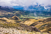 Valley seen from Illiniza Norte Volcano, Pichincha Province, Ecuador