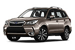 Stock pictures of low aggressive front three quarter view of a 2019 Subaru Forester Luxury 5 Door SUV