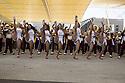 Performance of cheerleards of University of Southern California with the Trojan band in Expo 2015 for the National day of United States, Rho-Pero, Milan, July 4, 2015. &copy; Carlo Cerchioli<br /> <br /> L'esibizione delle cheerleader dell'Univesit&agrave; del sud California con la banda Trojan a Expo 2015 per la giornata nazionale degli Stati Uniti, Rho-pPero, Milano, 4 luglio 2015.