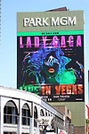 "Theatre Marquee for ""Lady Gaga Enigma"", a concert residency featuring two different shows, September 19, 2018 at Park Theater, Park MGM in Las Vegas, Nevada."