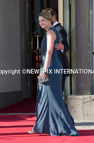 CROWN PRINCE GUILLAUME AND PRINCESS STEPHANIE<br /> attend a Pre-Wedding Dinner for Princess Madeleine and Christopher O'Neill at the Grand Hotel, Stockholm, Sweden_07/06/2013<br /> Mandatory Credit Photo: &copy;Dias/NEWSPIX INTERNATIONAL<br /> <br /> **ALL FEES PAYABLE TO: &quot;NEWSPIX INTERNATIONAL&quot;**<br /> <br /> IMMEDIATE CONFIRMATION OF USAGE REQUIRED:<br /> Newspix International, 31 Chinnery Hill, Bishop's Stortford, ENGLAND CM23 3PS<br /> Tel:+441279 324672  ; Fax: +441279656877<br /> Mobile:  07775681153<br /> e-mail: info@newspixinternational.co.uk