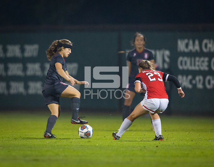 STANFORD, CA - November 9, 2018: Jaye Boissiere at Laird Q. Cagan Stadium. The top seeded Stanford Cardinal defeated the Seattle Redhawks 3-0 in the opening round of the NCAA tournament.