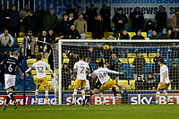 GOAL - Lee Gregory of Millwall scores the equaliser during the Sky Bet Championship match between Millwall and Sheff Wednesday at The Den, London, England on 20 February 2018. Photo by Carlton Myrie.
