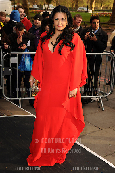 Kiran Sharma arrives for The Asian Awards 2014 at the Grosvenor House Hotel, London. 04/04/2014 Picture by: Steve Vas / Featureflash