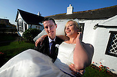 Gail (nee McPhillips) and James Pilcher, from Newton Stewart, who married at 3pm at the Old Blacksmiths Shop at Gretna Green - 10.10.10 - picture by Donald MacLeod - mobile 07702 319 738 - clanmacleod@btinternet.com - www.donald-macleod.com