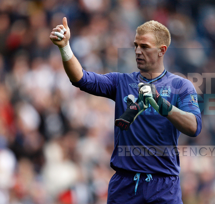 Joe hart Salutes the West Brom fans at the final whistle.Football - West Bromwich Albion v Manchester City - Barclays Premier League - The Hawthorns - Season 12/13 - 20/10/12 ..Mandatory Credit: Paul Bradbury/Sportimage.EDITORIAL USE ONLY. No use with unauthorized audio, video, data, fixture lists, club/league logos or ?live? services. Online in-match use limited to 45 images, no video emulation. No use in betting, games or single club/league/player publications. Please contact your account representative for further details...