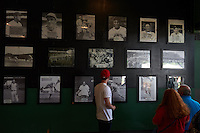 Birmingham Barons fans tour the stadium after the 20th Annual Rickwood Classic Game against the Jacksonville Suns on May 27, 2015 at Rickwood Field in Birmingham, Alabama.  Jacksonville defeated Birmingham by the score of 8-2 at the countries oldest ballpark, Rickwood opened in 1910 and has been most notably the home of the Birmingham Barons of the Southern League and Birmingham Black Barons of the Negro League.  (Mike Janes/Four Seam Images)