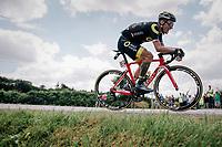 Sylvain Chavanel (FRA/Direct Energie) solo ahead<br /> <br /> Stage 5: Lorient &gt; Quimper (203km)<br /> <br /> 105th Tour de France 2018<br /> &copy;kramon
