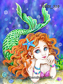 Kayomi, CUTE ANIMALS, LUSTIGE TIERE, ANIMALITOS DIVERTIDOS, paintings+++++,USKH310,#ac#, EVERYDAY mermaid,mermaids,fantasy