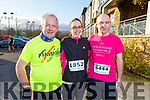 Dan McCarthy, Ann Marie Ward and William Horgan all from Abbeyfeale at the Optimal Fitness 5 and 10 k run at the Rose Hotel on Monday.