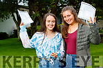 Sibéal Ní Chathasaigh and Sadhbh Sionóid Gaelcholáiste Chiarraí, who received their Leaving Certificate results on Tuesday morning last.