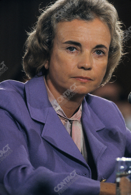 US Supreme Court Justice Sandra Day O'Connor at her Senate confirmation hearings. Washington, D.C., USA, September 1981