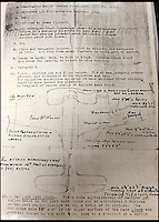 BNPS.co.uk (01202 558833)<br /> Pic: AdamPartridge/BNPS<br /> <br /> The damage report from Sergeants Denys Chapman and Kenneth Leach Beaufighter plane in which it states they were shot 30 times by machine gun and parts of the wing were broken off on landning.<br /> <br /> The little-known story of a heroic Second World War pilot and navigator duo who were the real life version of Maverick and Goose from 80s film Top Gun has emerged after more than 70 years.<br /> <br /> Sergeants Denys Chapman and Kenneth Leach were both awarded a Distinguished Flying Medal - one of the air force's top awards - for their bravery fighting enemy aircraft in the 1940s.<br /> <br /> Unusually, Sergeant Leach got his when Command tried to give a second DFM to Sgt Chapman but he refused and insisted it go to his flying buddy for saving his life. <br /> <br /> The rare and important medals are now going up for sale together with Adam Partridge Auctioneers in Macclesfield, Cheshire.