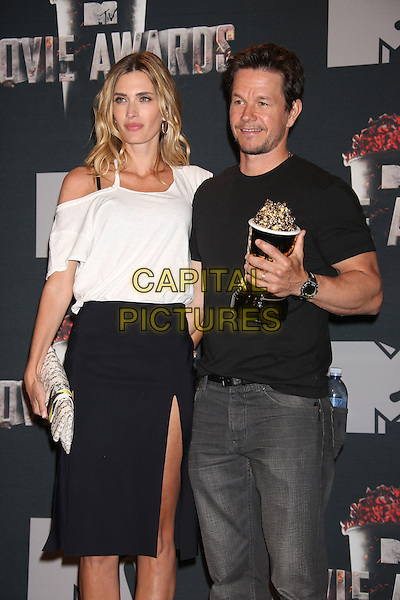 LOS ANGELES, CA - APRIL 13: Rhea Durham and Mark Wahlberg in the press room at the 2014 MTV Movie Awards at Nokia Theatre L.A. Live on April 13, 2014 in Los Angeles, California. <br /> CAP/MPI/JO<br /> &copy;Janice Ogata/MPI/Capital Pictures