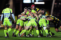 Sale Sharks forwards in action at a maul. Aviva Premiership match, between Northampton Saints and Sale Sharks on December 23, 2016 at Franklin's Gardens in Northampton, England. Photo by: Patrick Khachfe / JMP
