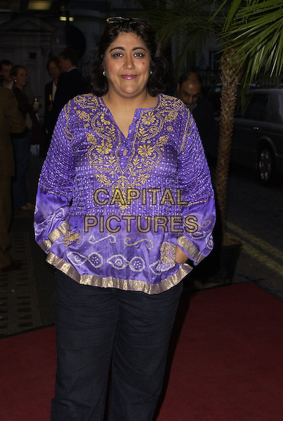 GURINDER CHADHA.At the CobraVision Film Awards, Curzon Mayfair, .London, England, April 24th 2006..half length purple gold indian style top gurinda chada.Ref: CAN.www.capitalpictures.com.sales@capitalpictures.com.©Can Nguyen/Capital Pictures
