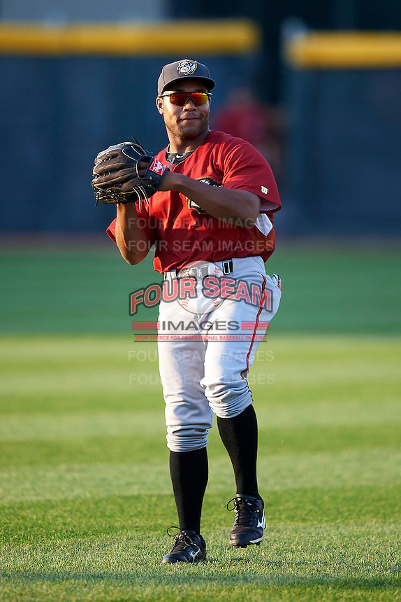 Altoona Curve outfielder Evan Chambers #39 warms up before an Eastern League game against the Erie Seawolves at Jerry Uht Park on August 31, 2012 in Erie, Pennsylvania.  Altoona defeated Erie 4-3.  (Mike Janes/Four Seam Images)