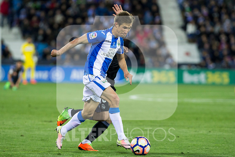 Alexander Szymanowski of Club Deportivo Leganes during the match of  La Liga between Club Deportivo Leganes and Real Madrid at Butarque Stadium  in Leganes, Spain. April 05, 2017. (ALTERPHOTOS / Rodrigo Jimenez)