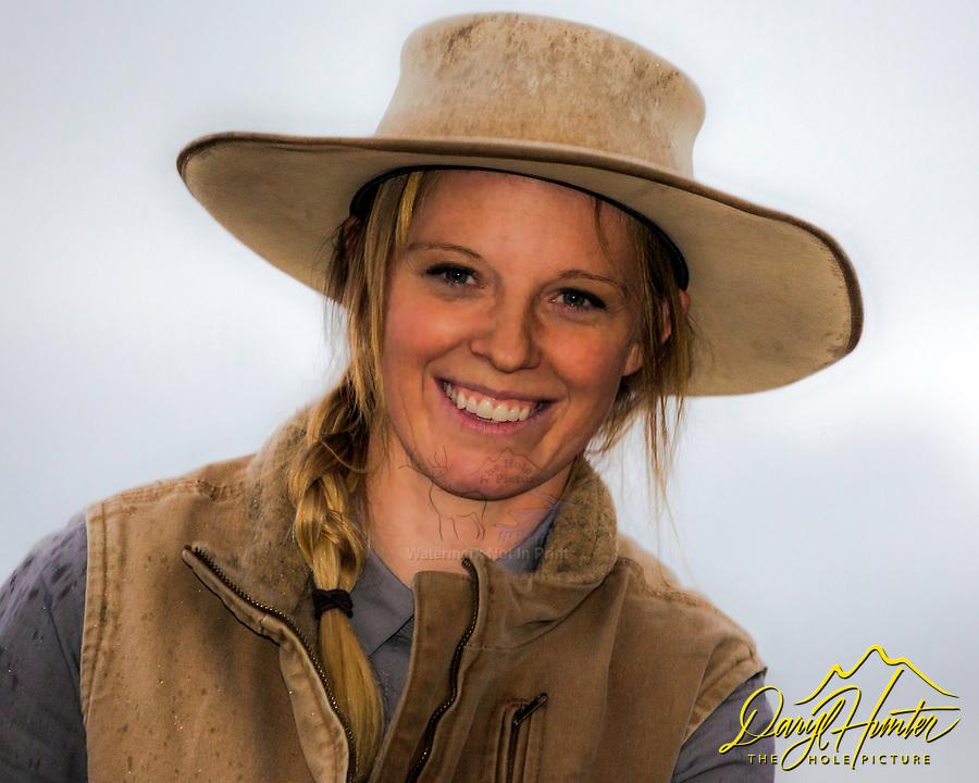 Idaho Buckaroo cowgirl Allison Moss from Hamer Idaho.