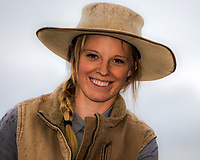 Idaho Buckaroo cowgirl Allison Moss from Hamer Idaho.