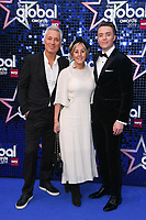 Martin and Shirley Kemp with son, Roman<br /> arriving for the Global Awards 2019 at the Hammersmith Apollo, London<br /> <br /> ©Ash Knotek  D3486  07/03/2019