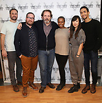 "Greg Keller, Michael Cyril Creighton, Thomas Jay Ryan, Quincy Tyler Bernstine, Jennifer Kim, and Kyle Beltran attends the Meet & Greet for the cast of ""The Amateurs"" at the Shelter Studios on January 9, 2018 in New York City."