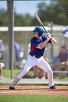 Brett Baty during the WWBA World Championship at the Roger Dean Complex on October 19, 2018 in Jupiter, Florida.  Brett Baty is a third baseman from Spicewood, Texas who attends Lake Travis High School and is committed to Texas.  (Mike Janes/Four Seam Images)