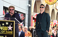 Sammy Haggar &amp; Adam Levine at the Hollywood Walk of Fame Star Ceremony honoring singer Adam Levine. Los Angeles, USA 10 February  2017<br /> Picture: Paul Smith/Featureflash/SilverHub 0208 004 5359 sales@silverhubmedia.com