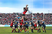 June 3rd 2017, AMI Stadium, Christchurch, New Zealand; Super Rugby; Crusaders versus Highlanders;  Sam Whitelock of the Crusaders. Super Rugby match