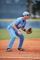 SCF Manatees third baseman Ryan Karstetter (24) during a game against the College of Central Florida Patriots on February 8, 2017 at Robert C. Wynn Field in Bradenton, Florida.  SCF defeated Central Florida 6-5 in eleven innings.  (Mike Janes/Four Seam Images)