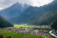 Tiroler Oberland, Tyrol, Austria, June 2009. Mountains surround the Village of Pfunds in the Inn river Valley. The Region of the Tyrolian Highlands offer many different options for outdoor adventures, leisure and relaxing. Photo by Frits Meyst/Adventure4ever.com