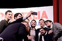 Roma, 12 Marzo 2017<br /> Andrea Orlando posa per un selfie con i suoi sostenitori.<br /> Presentazione al teatro Eliseo della candidatura a segretario del Partito Democratico di Andrea Orlando Ministro della Giustizia.
