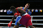 Glasgow 2014 Commonwealth Games<br /> <br /> Nathan Thorley, Wales (Blue) v Kennedy St Pierre, Mauritius (Red)<br /> Men's Light Heavy (81kg) Bronze bout.<br /> <br /> 01.08.14<br /> &copy;Steve Pope-SPORTINGWALES