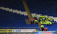 A general view of Cardiff City Stadium, home of Cardiff City FC as stewards are briefed before the match<br /> <br /> Photographer Kevin Barnes/CameraSport<br /> <br /> The EFL Sky Bet Championship - Cardiff City v Bolton Wanderers - Tuesday 13th February 2018 - Cardiff City Stadium - Cardiff<br /> <br /> World Copyright &copy; 2018 CameraSport. All rights reserved. 43 Linden Ave. Countesthorpe. Leicester. England. LE8 5PG - Tel: +44 (0) 116 277 4147 - admin@camerasport.com - www.camerasport.com